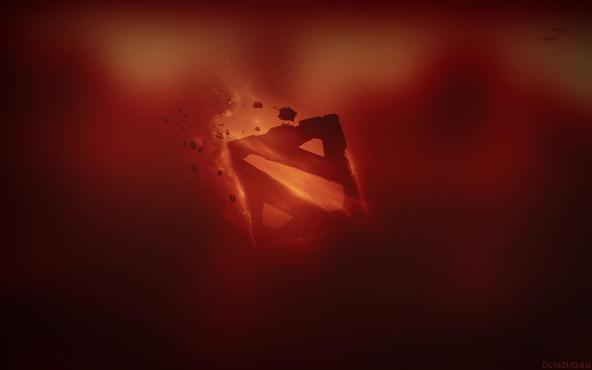 Wallpapers dota 2 Горячая лава, красный фон