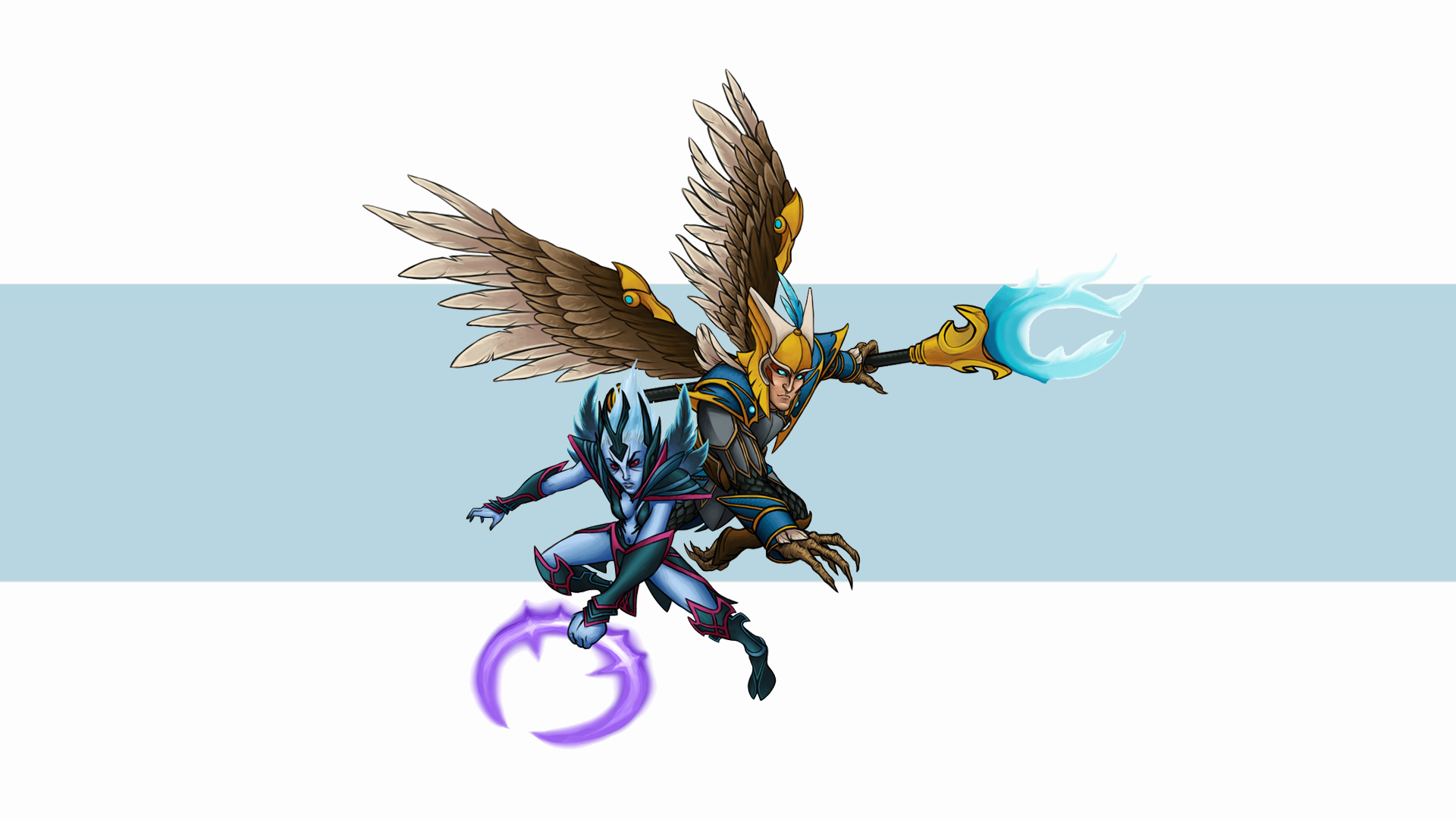 Vengeful Spirit, Skywrath Mage обои