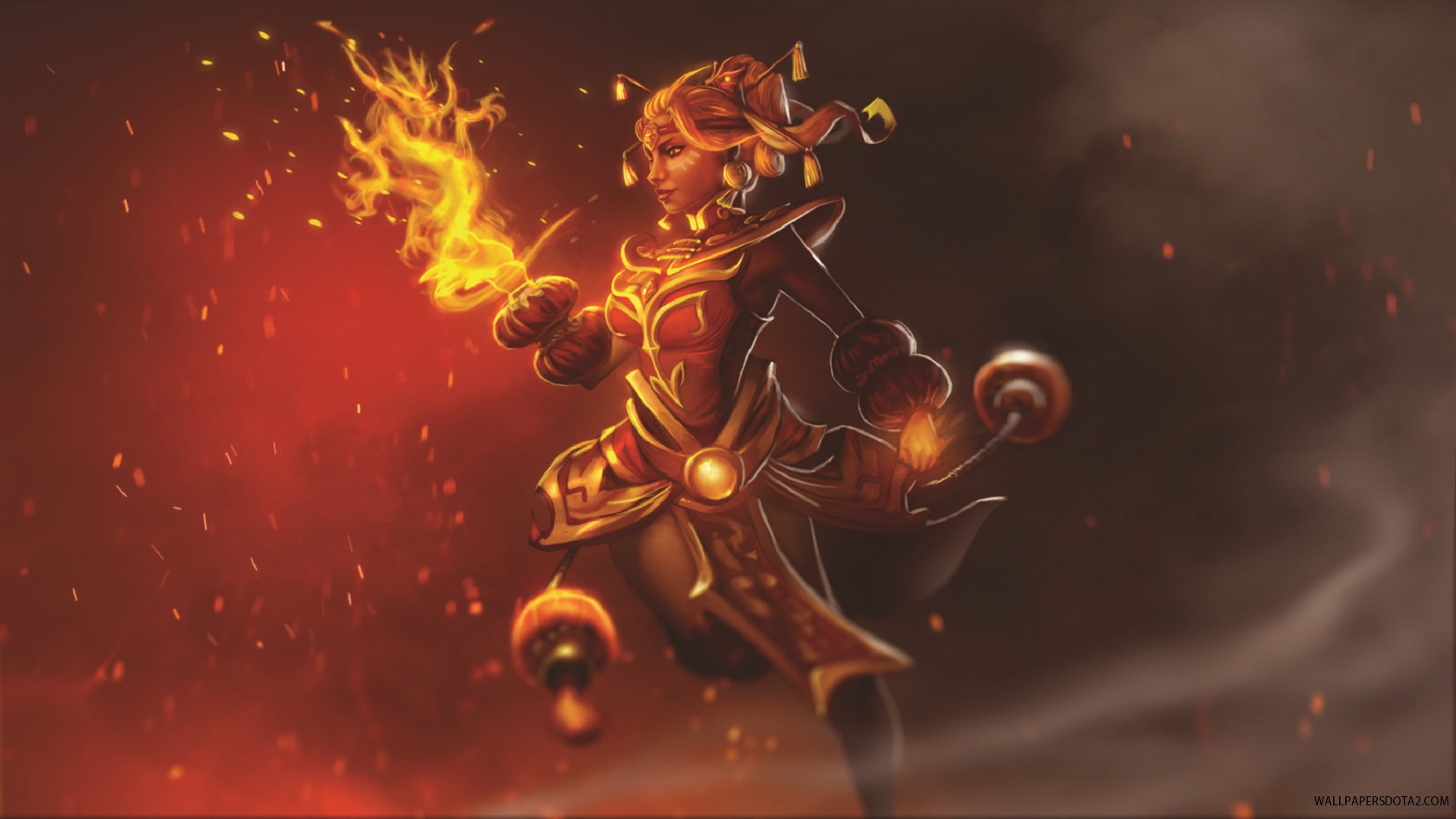 Lina Dragonfire set backgrounds for pc laptops Dota 2
