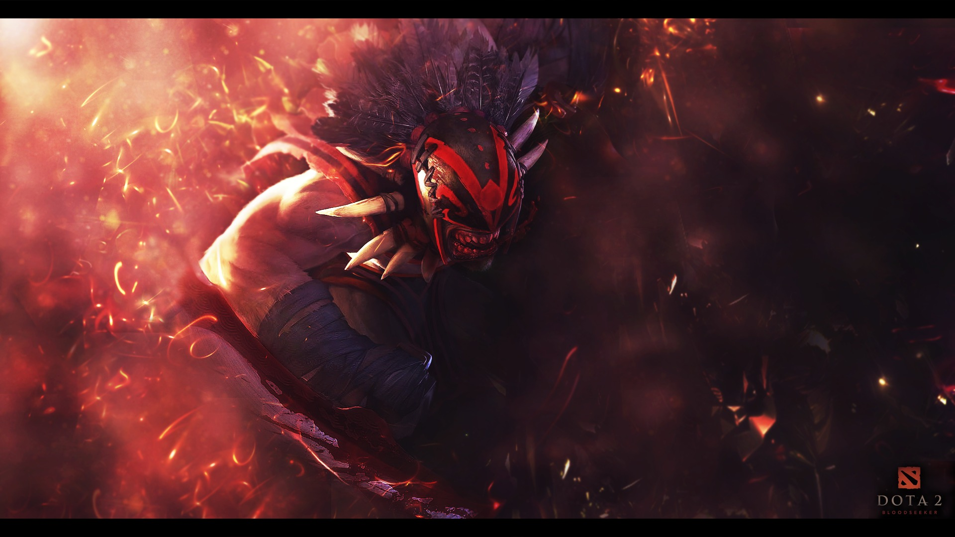 Bloodseeker проливает кровь  Dota 2, wallpaper free Download