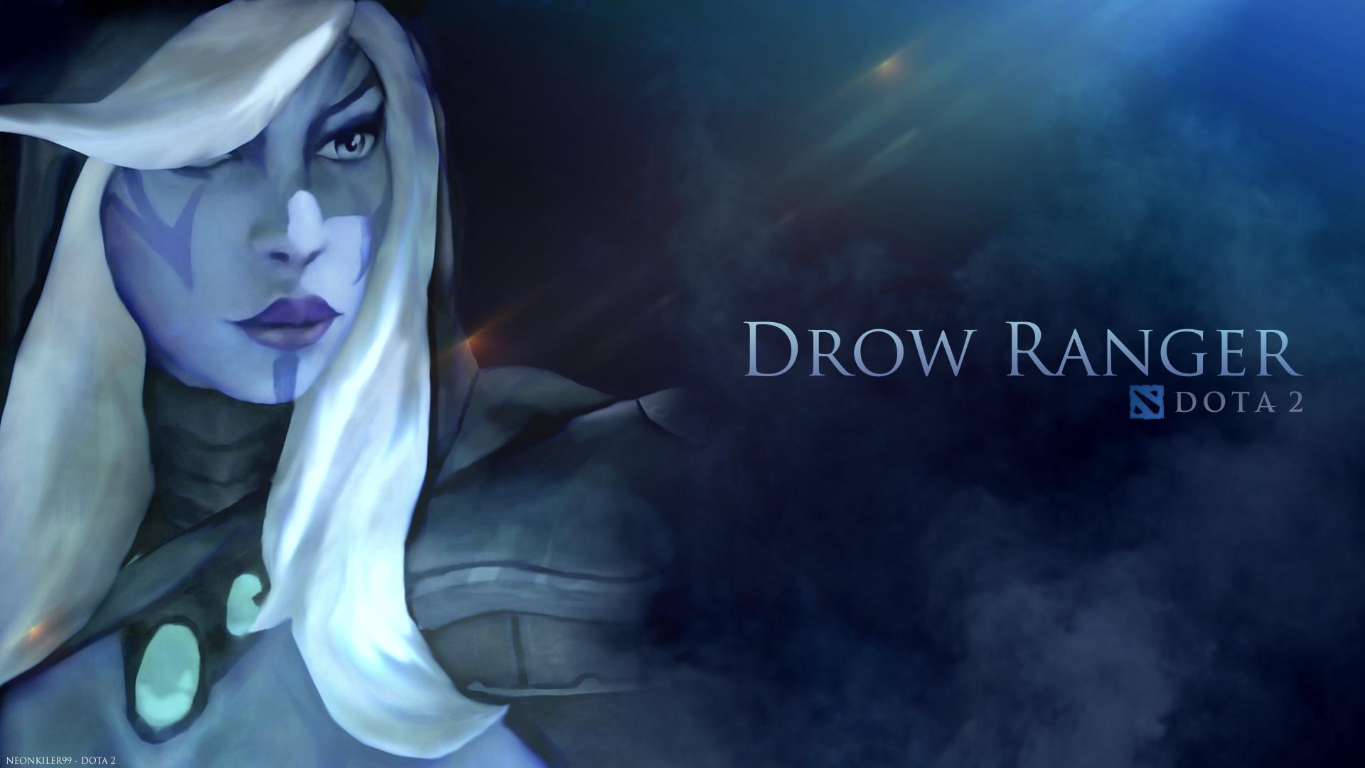 Drow Ranger, Тракса обои на рабочий стол Дота 2