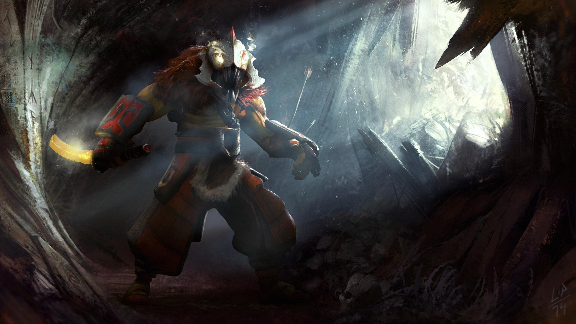Juggernaut in cave wallpapers Dota 2