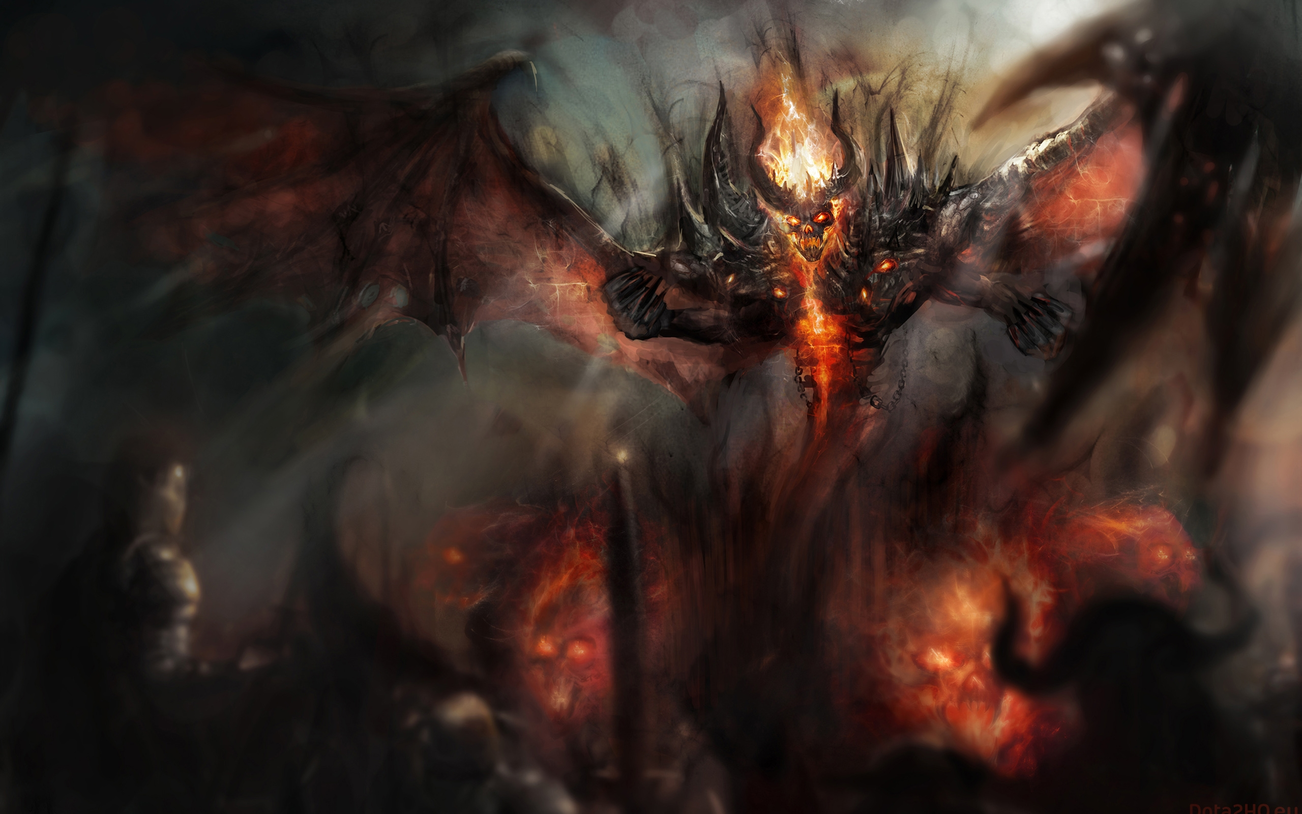 Shadow Fiend SF Demon wallpapers Dota 2