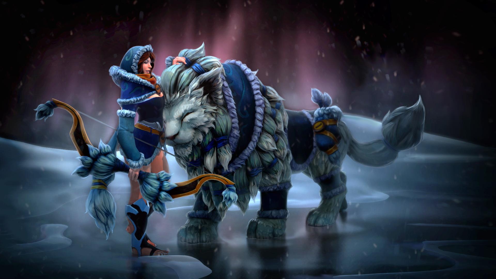 Mirana, Мирана Snowstorm Huntress Set обои на рабочий стол
