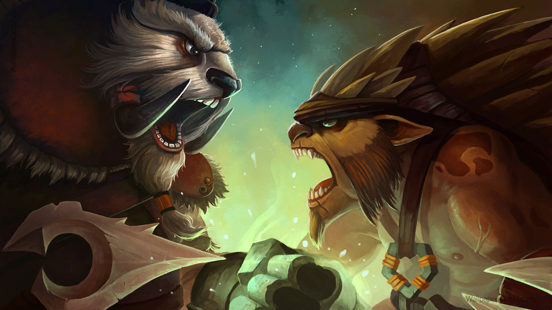 Bristleback vs tusk dota 2 wallpapers