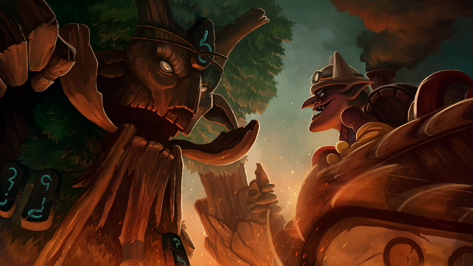 Treant Protector vs Timbersaw wallpapers