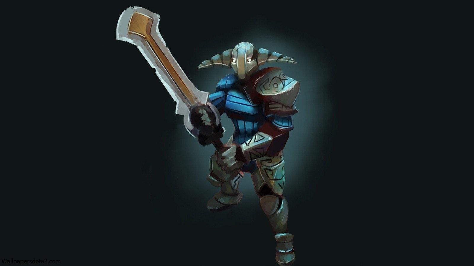 Sven, Свен с мечем обои на рабочий стол Дота 2