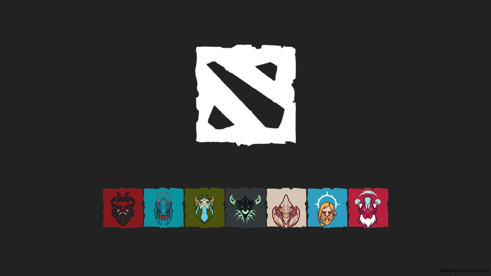 Dota 2 Logo, free download desktop wallpaper FULL HD