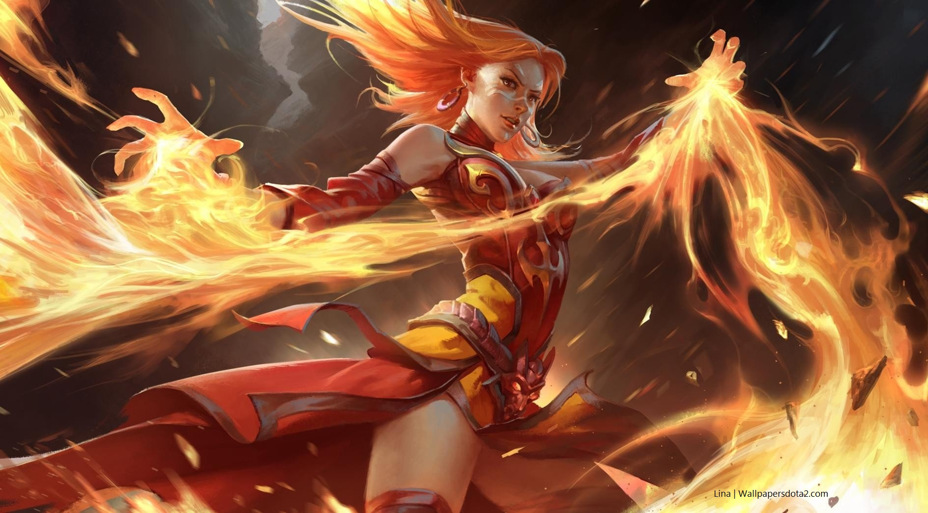 Lina free wallpapers for Desktop Dota 2 HD