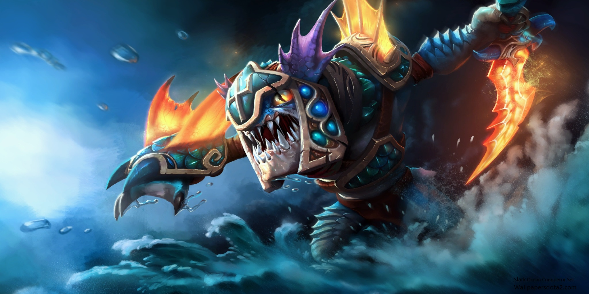 Slark, Сларк Ocean Conqueror SET desktop backgrounds download