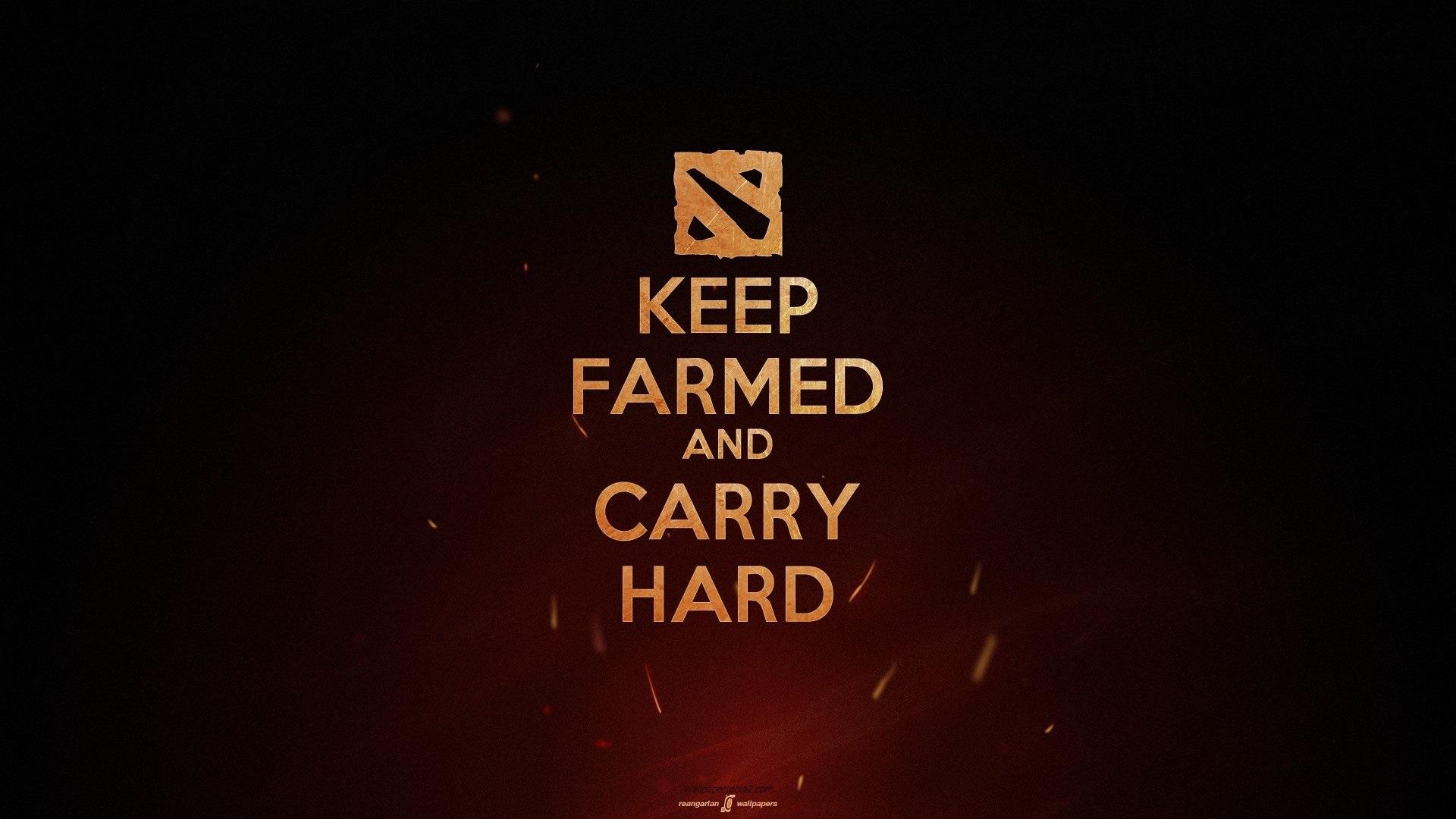 Desktop themes Keep Farme and Carry Hard