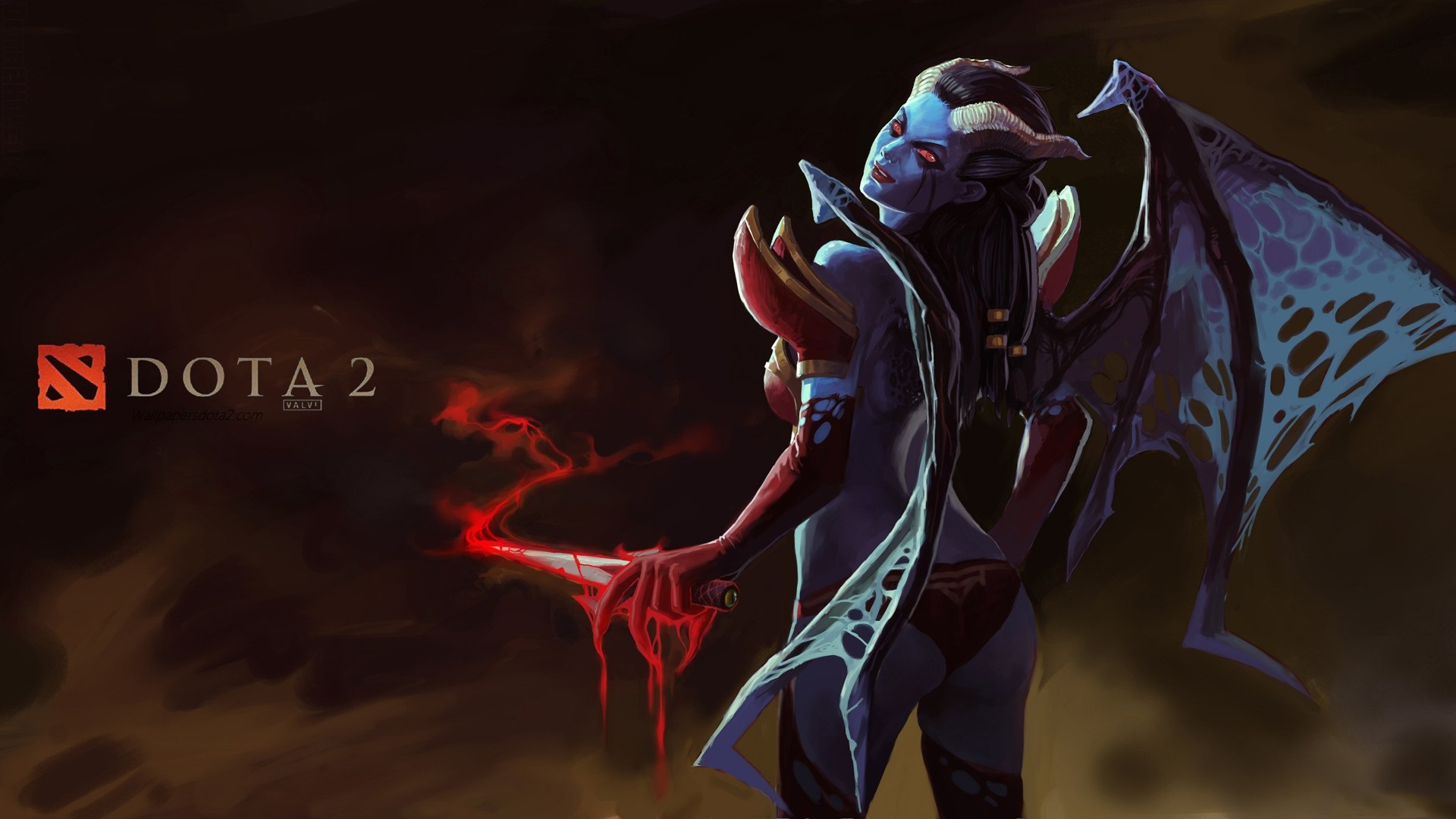 Queen of Pain computer wallpaper Dota 2