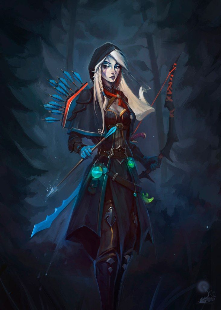 Drow Ranger ART mobile phone wallpapers DOTA 2 FREE HD