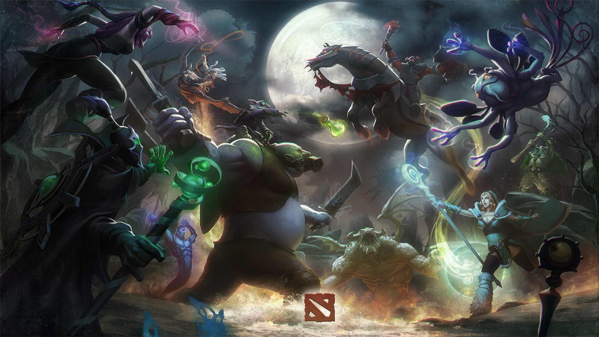 Heroes DOTA 2 wallpaper desktop download