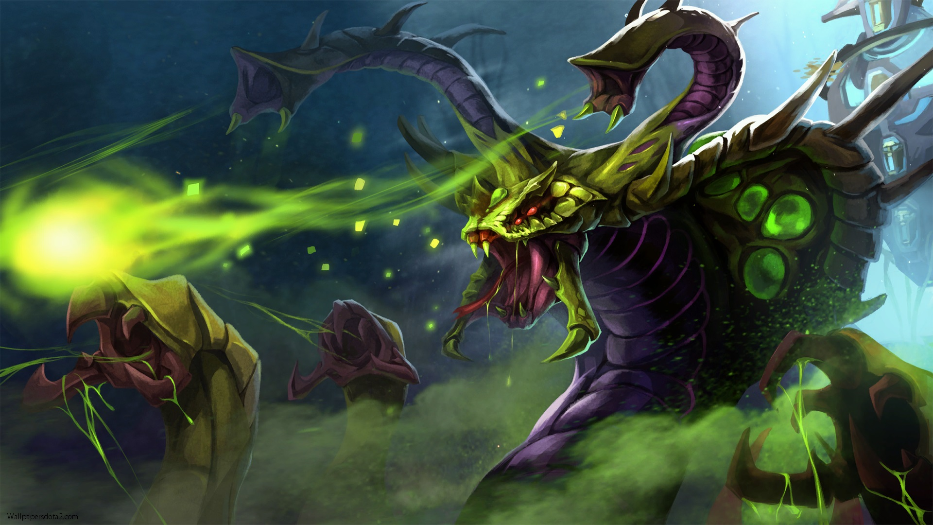 Venomancer Dota 2 hd wallpapers for computer desktop