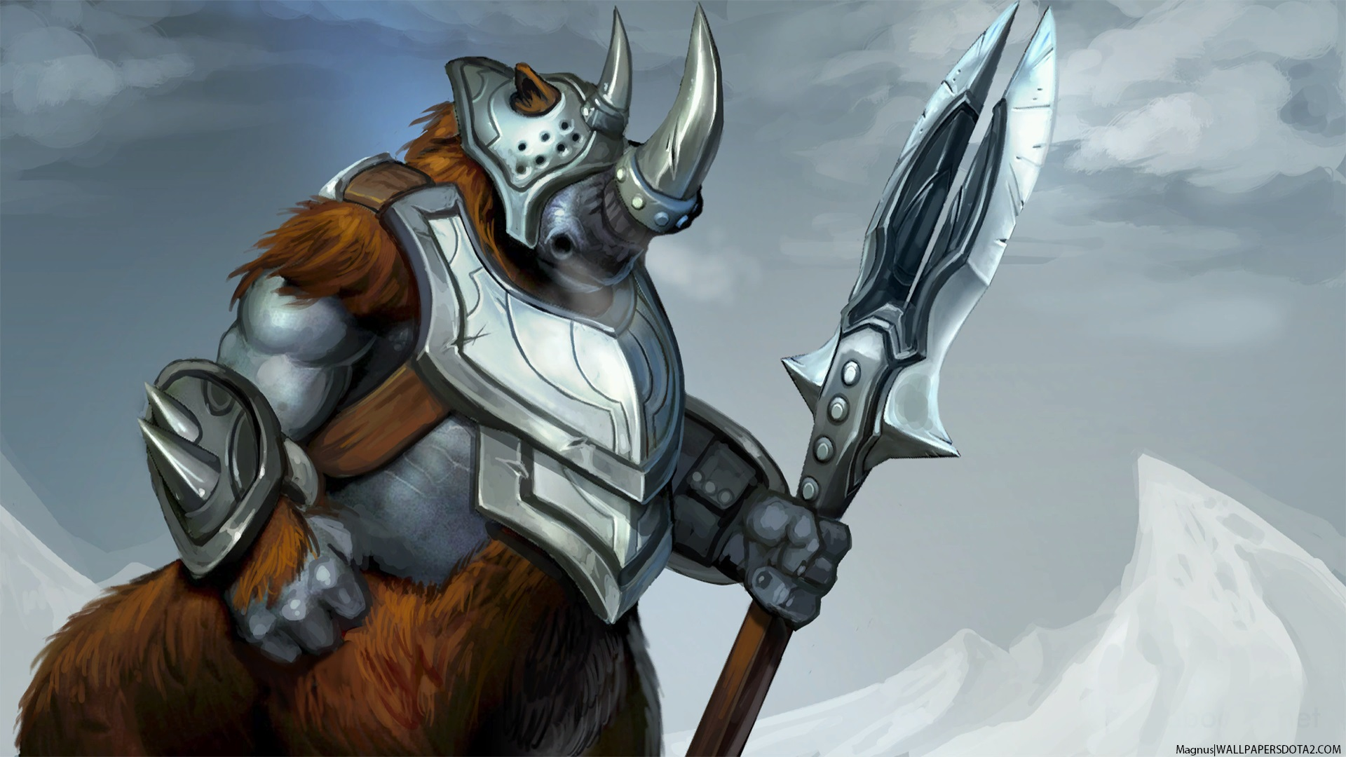 Magnus Defender of Matriarch  free pc wallpaper download Dota 2