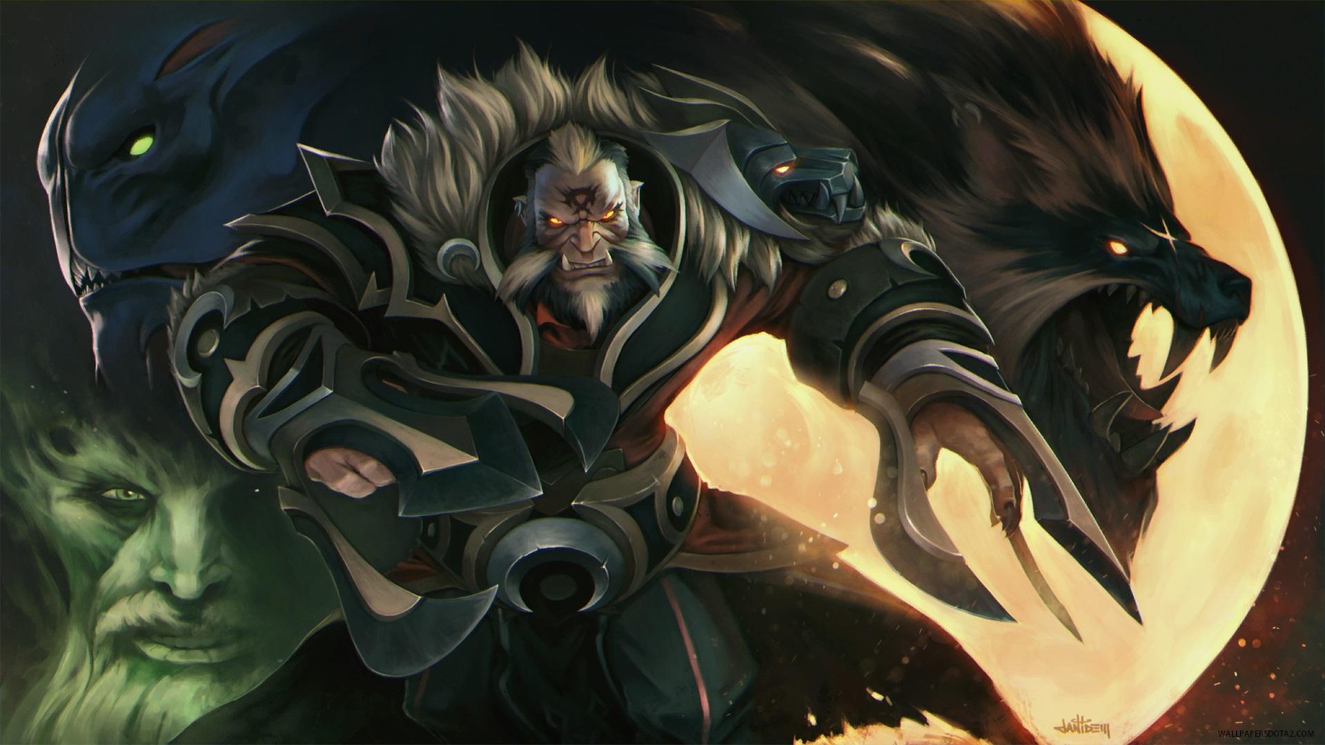 Lycan Hunter of Kings Dota 2 backgrounds for laptops