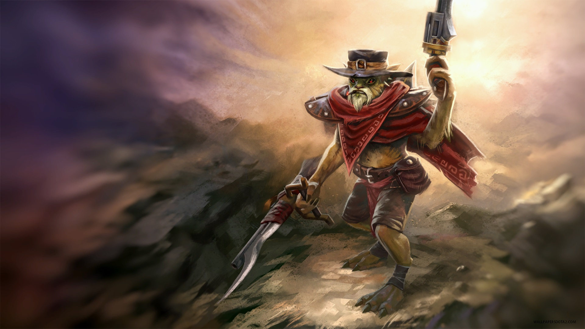 Bounty Hunter Hunter with No Name Set Dota 2 laptop backgrounds