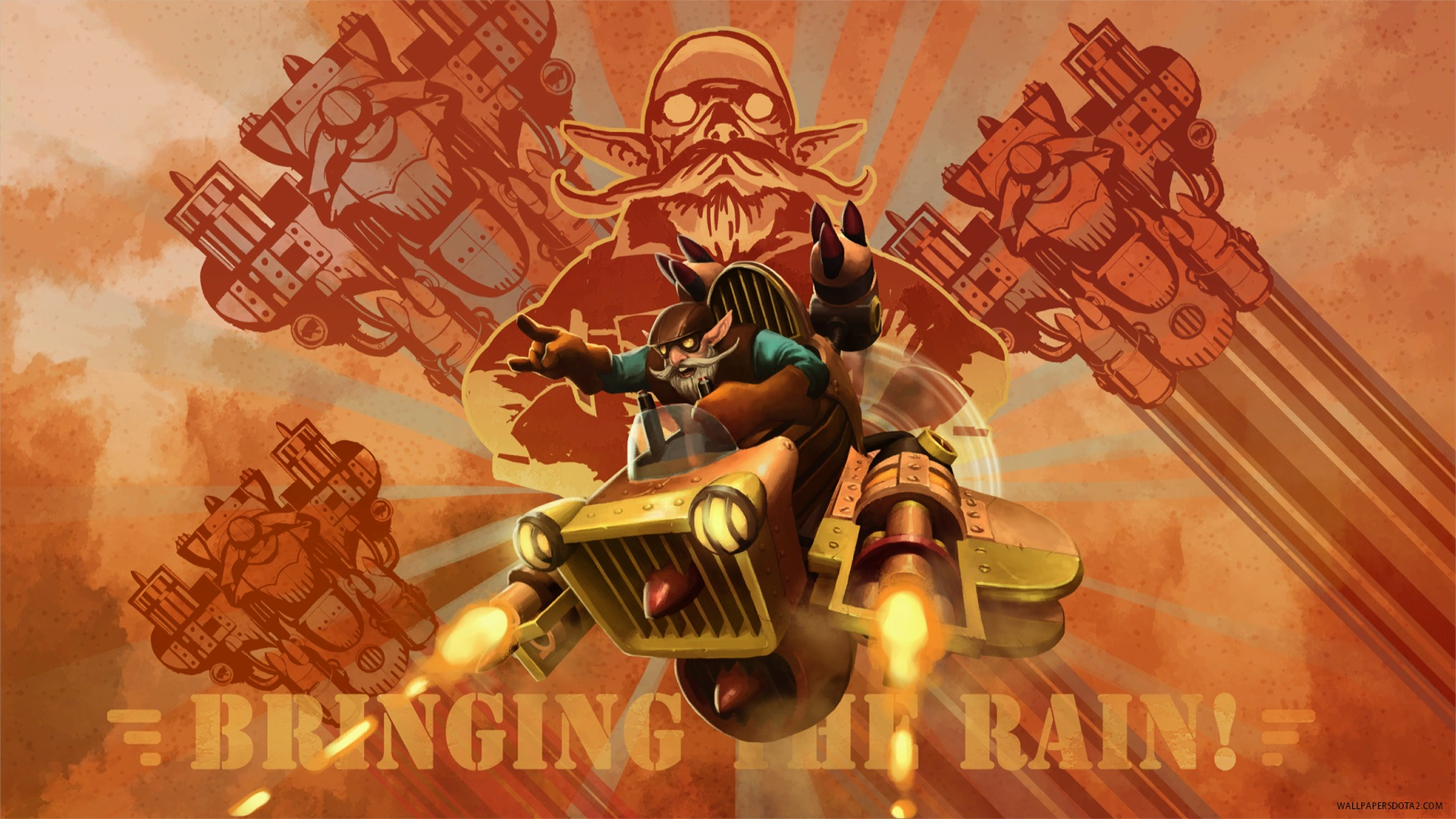 Gyrocopter Rainmaker MK.VII  pc wallpapers Dota 2