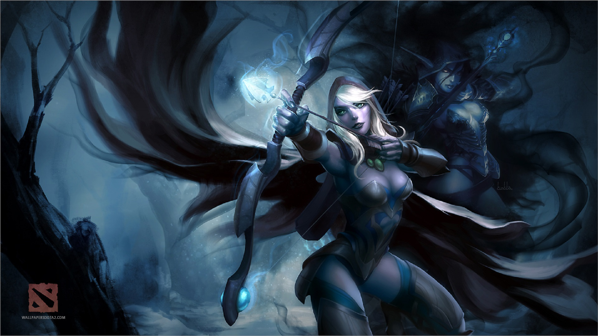 Drow Ranger computer desktop wallpapers Dota 2