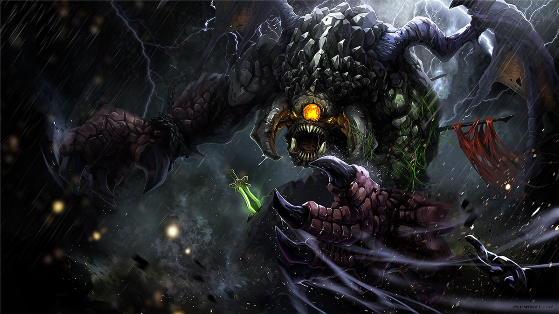 Roshan Dota 2 wallpaper in desktop