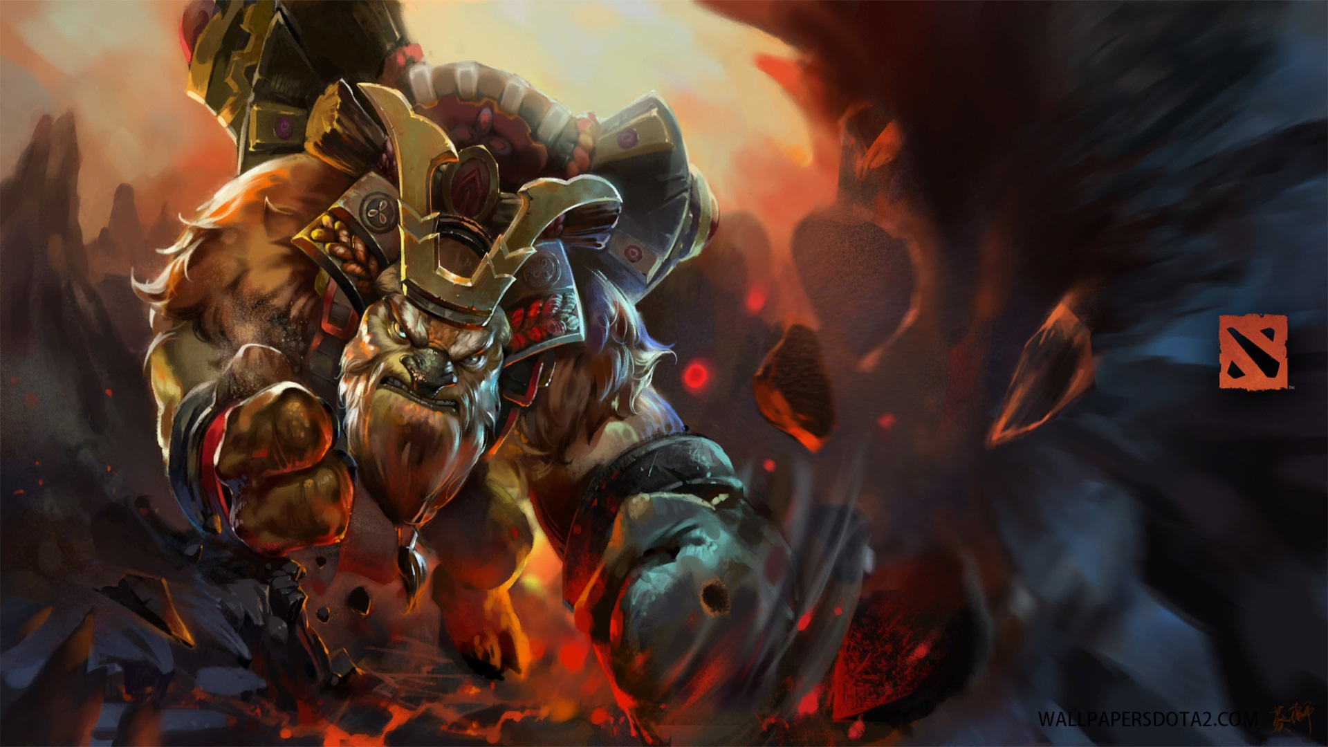 Earthshaker Samurai Soul Dota 2 high resolution desktop backgrounds