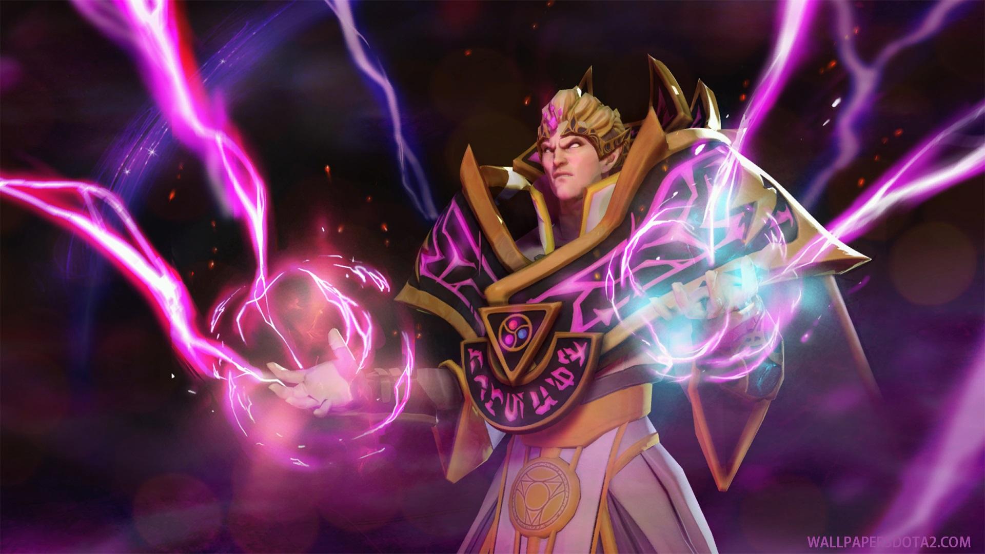 Invoker Sinister Lightning Dota 2 desktop wallpaper high resolution