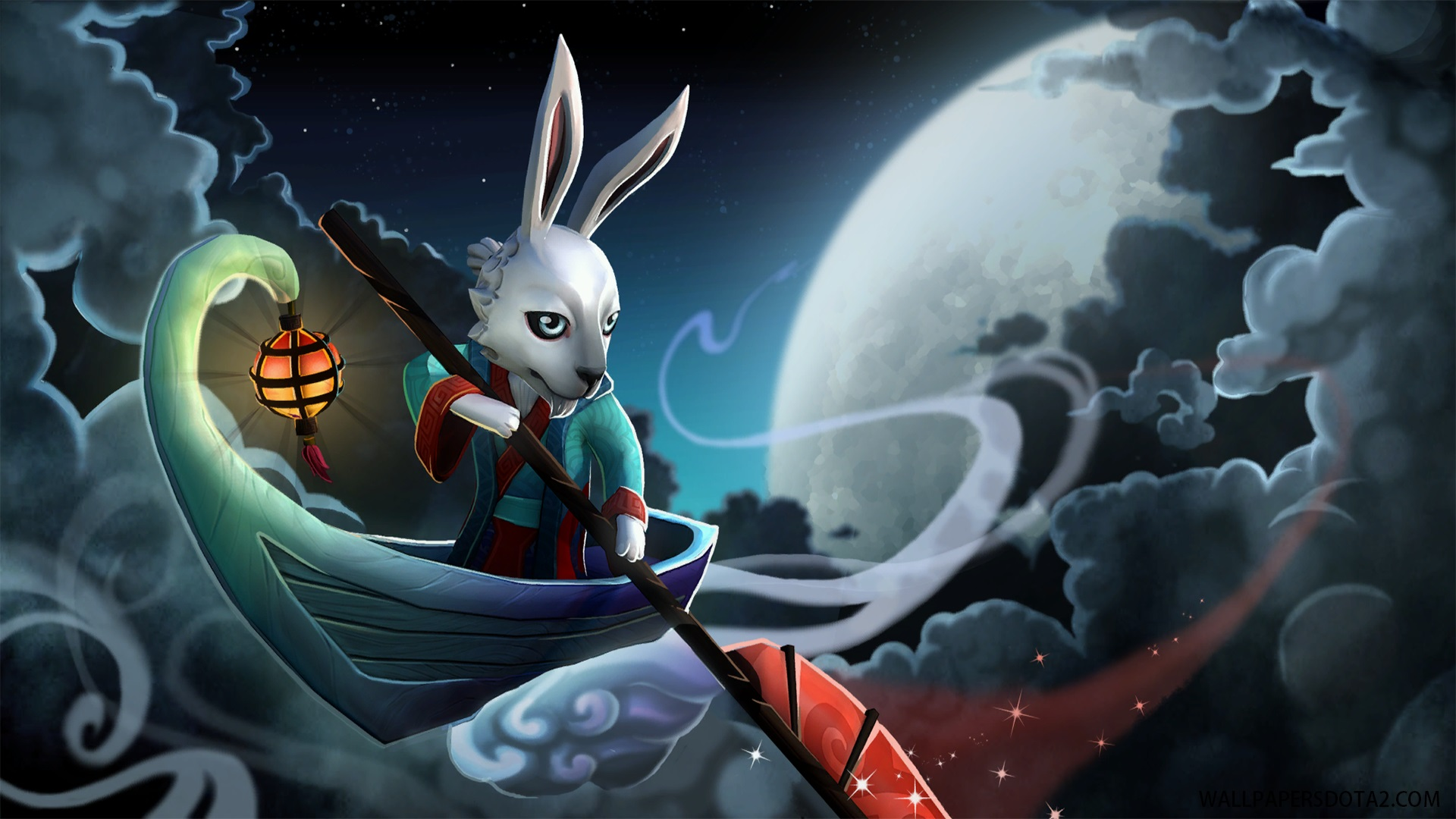 Mei Nei the Jade Rabbit Courier desktop wallpapers Dota 2