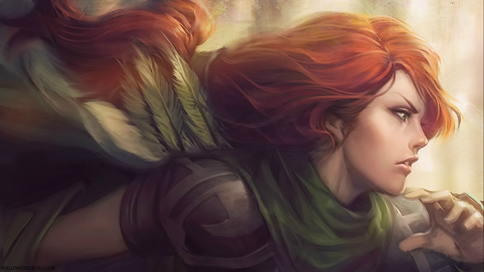 Windranger high resolution backgrounds Dota 2