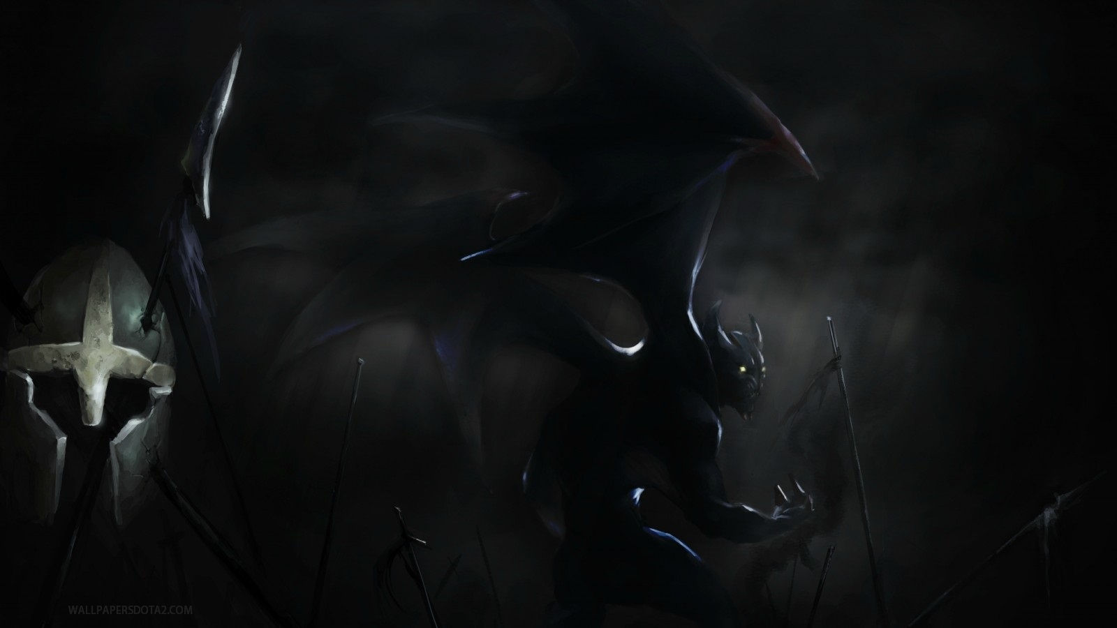 Night Stalker desktop backgrounds high resolution Dota 2