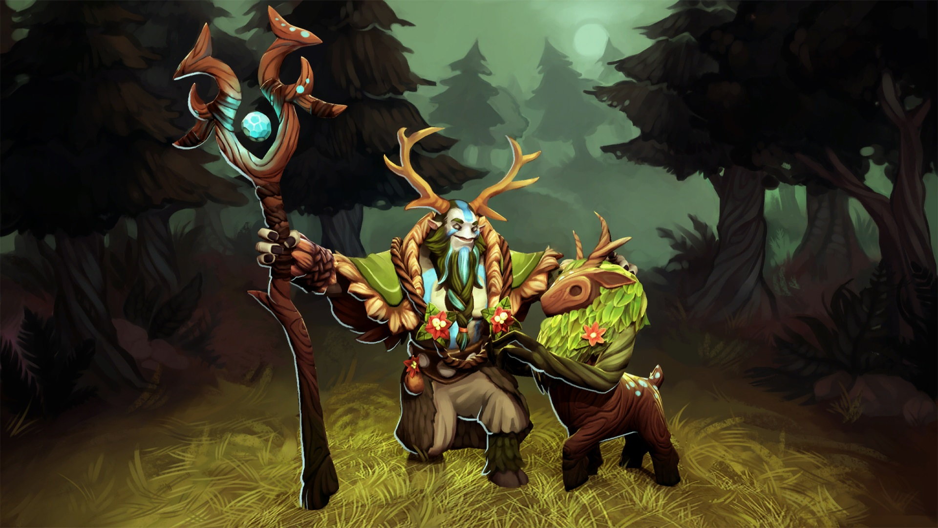 Nature's Prophet high resolution backgrounds Dota 2