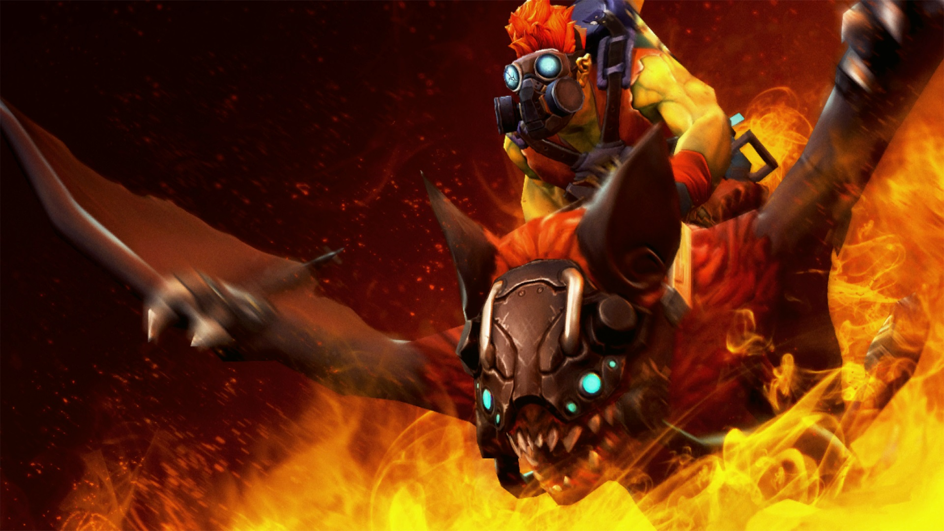 Batrider Firestarter Set wallpapers Dota 2 the play