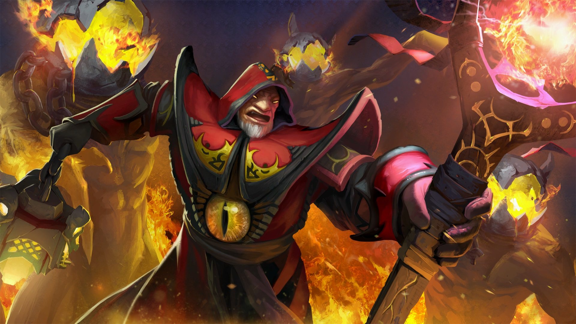 Warlock The Exiled Demonologist Set backgrounds for laptops Dota 2