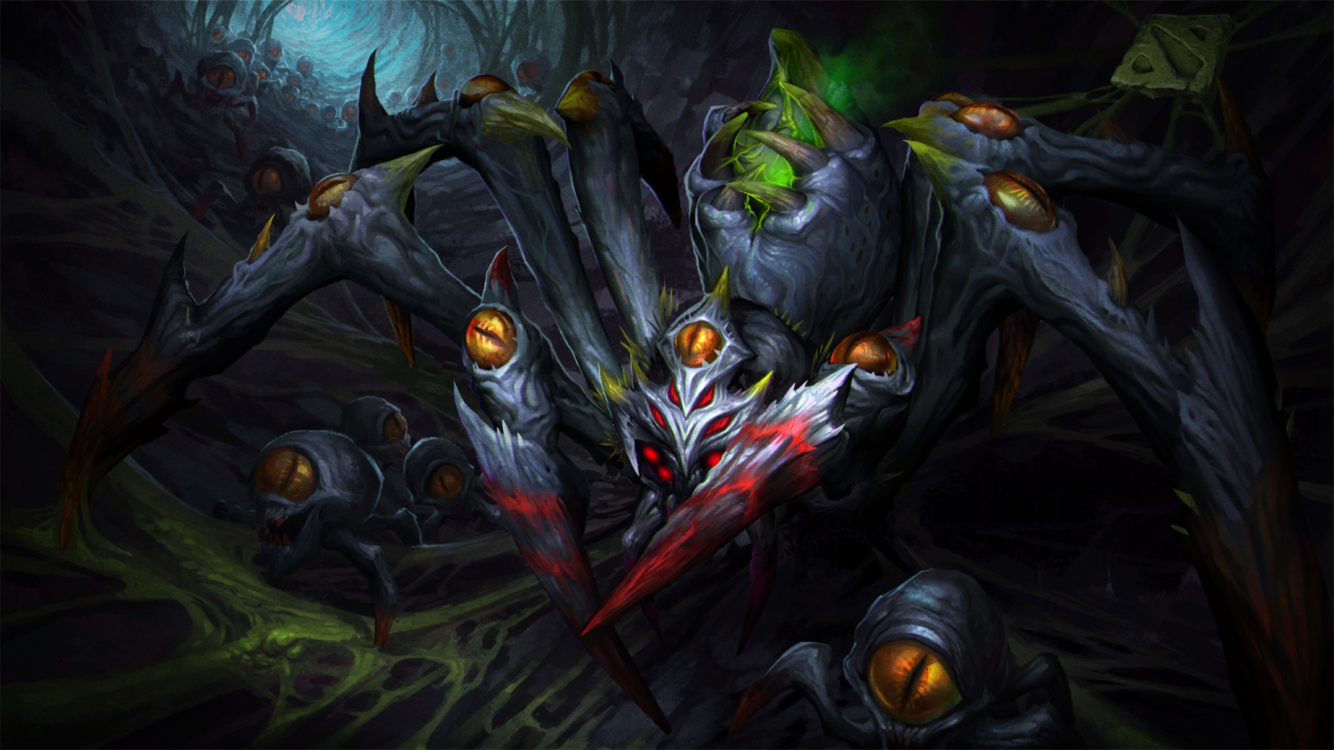 BroodMother Webs Of Perception best wallpapers Dota 2