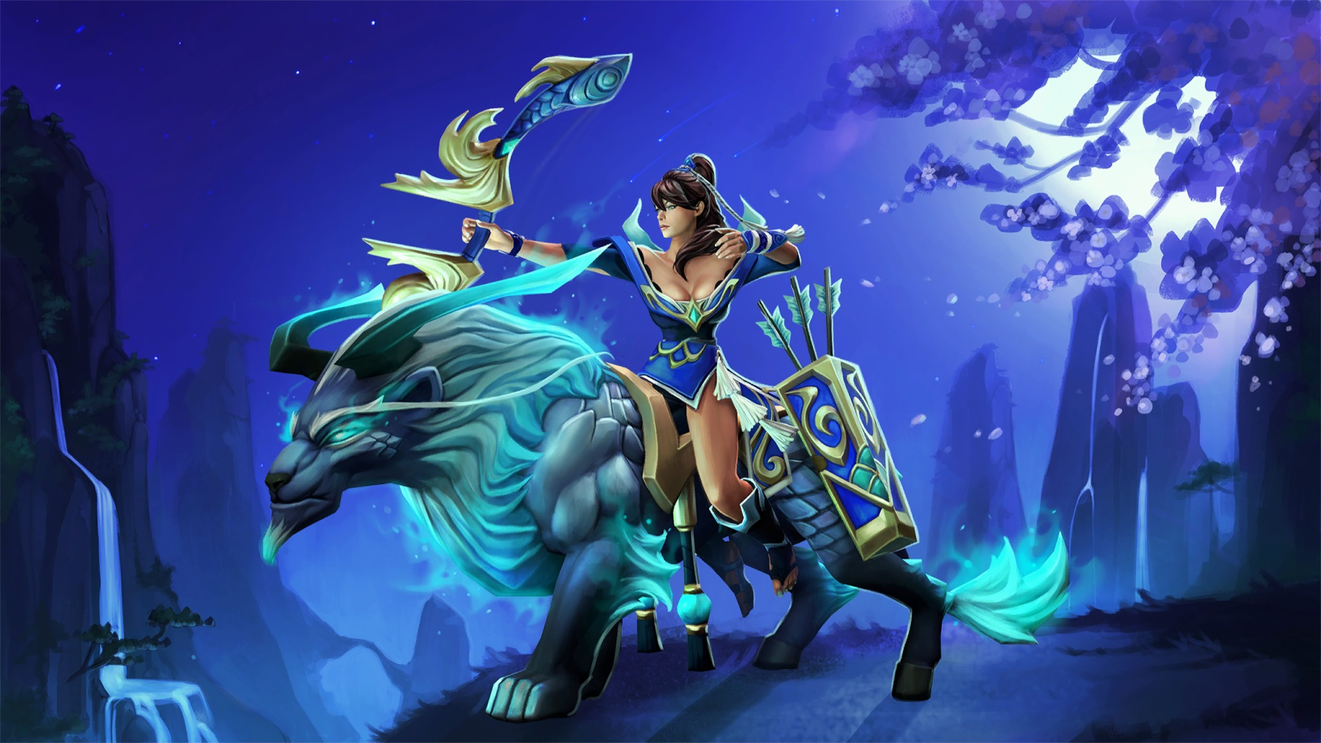 Mirana Gifts of the Heavenly Guardian wallpapers free  Dota 2