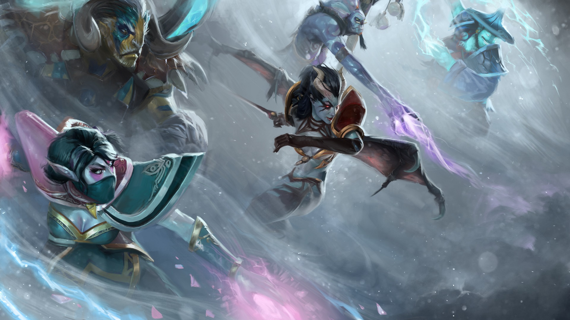3d desktop wallpaper Heroes Dota 2