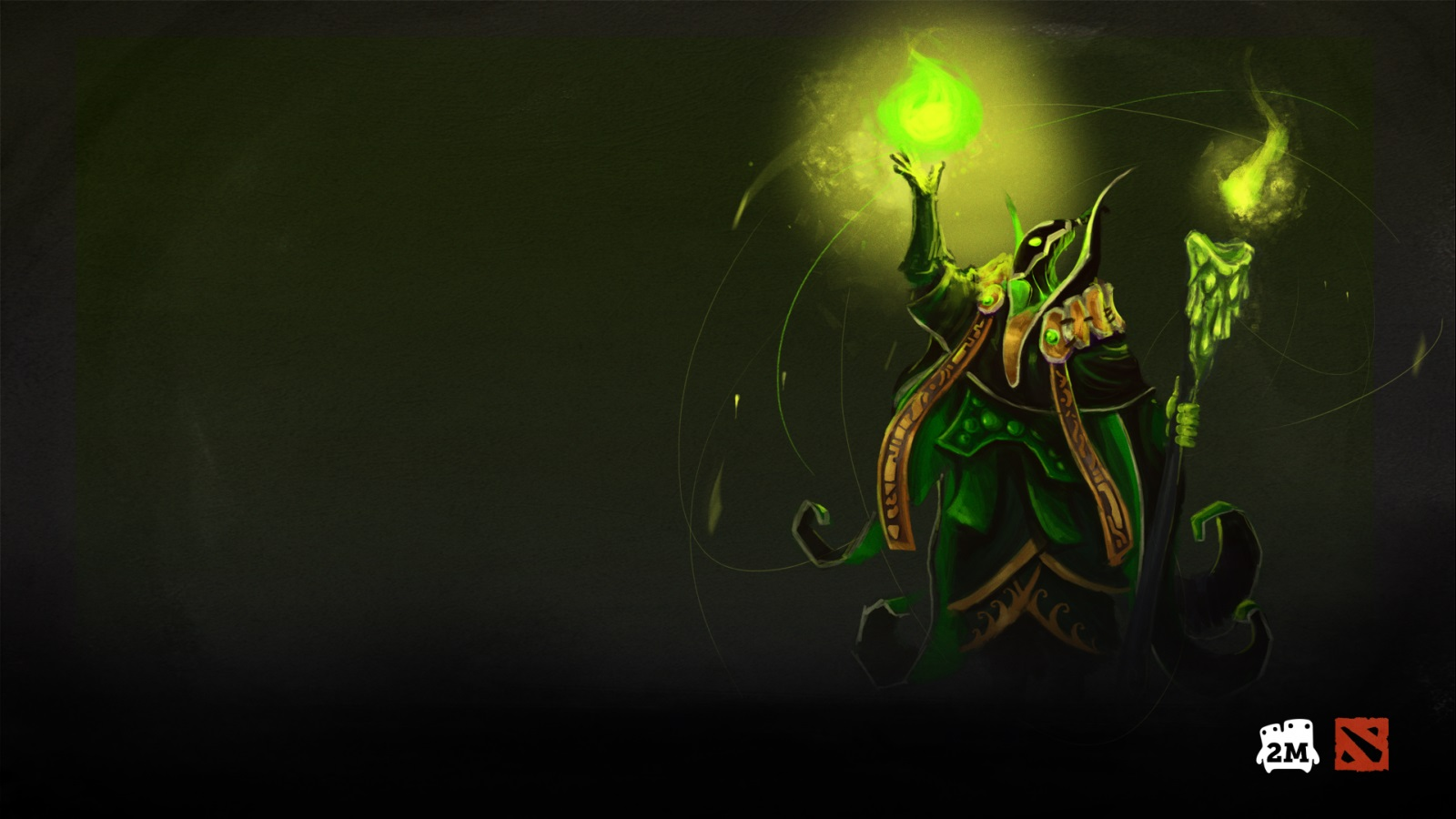Rubick wallpaper for computer desktop Dota 2