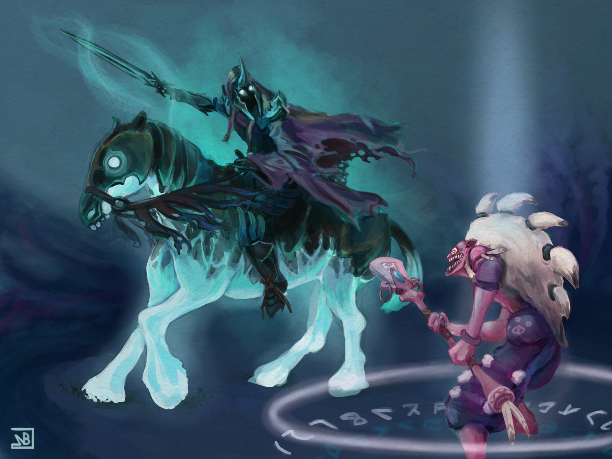 Dazzle & Abaddon wallpapers Dota 2 download