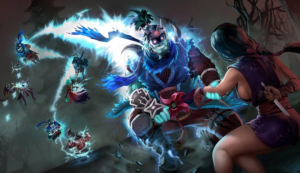 Storm Spirit & Mirana обои Dota 2