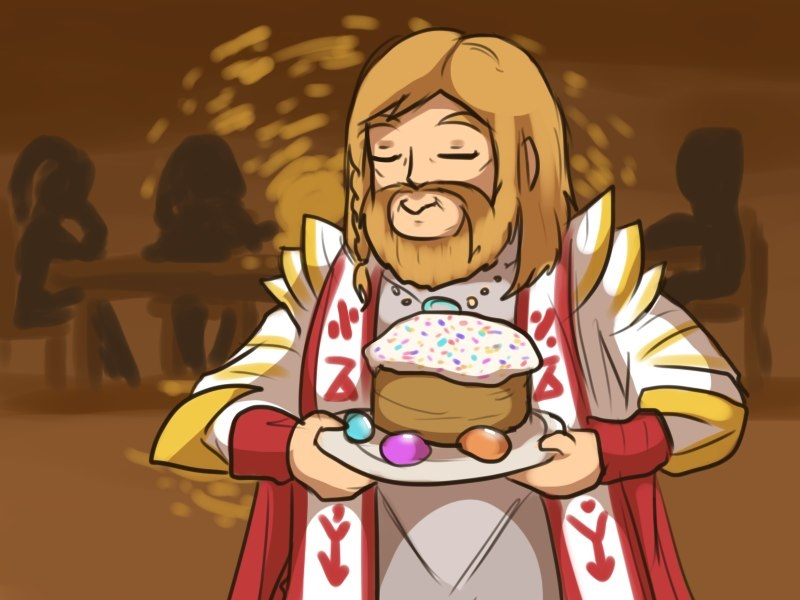 Omniknight ART Happy Easter Dota 2