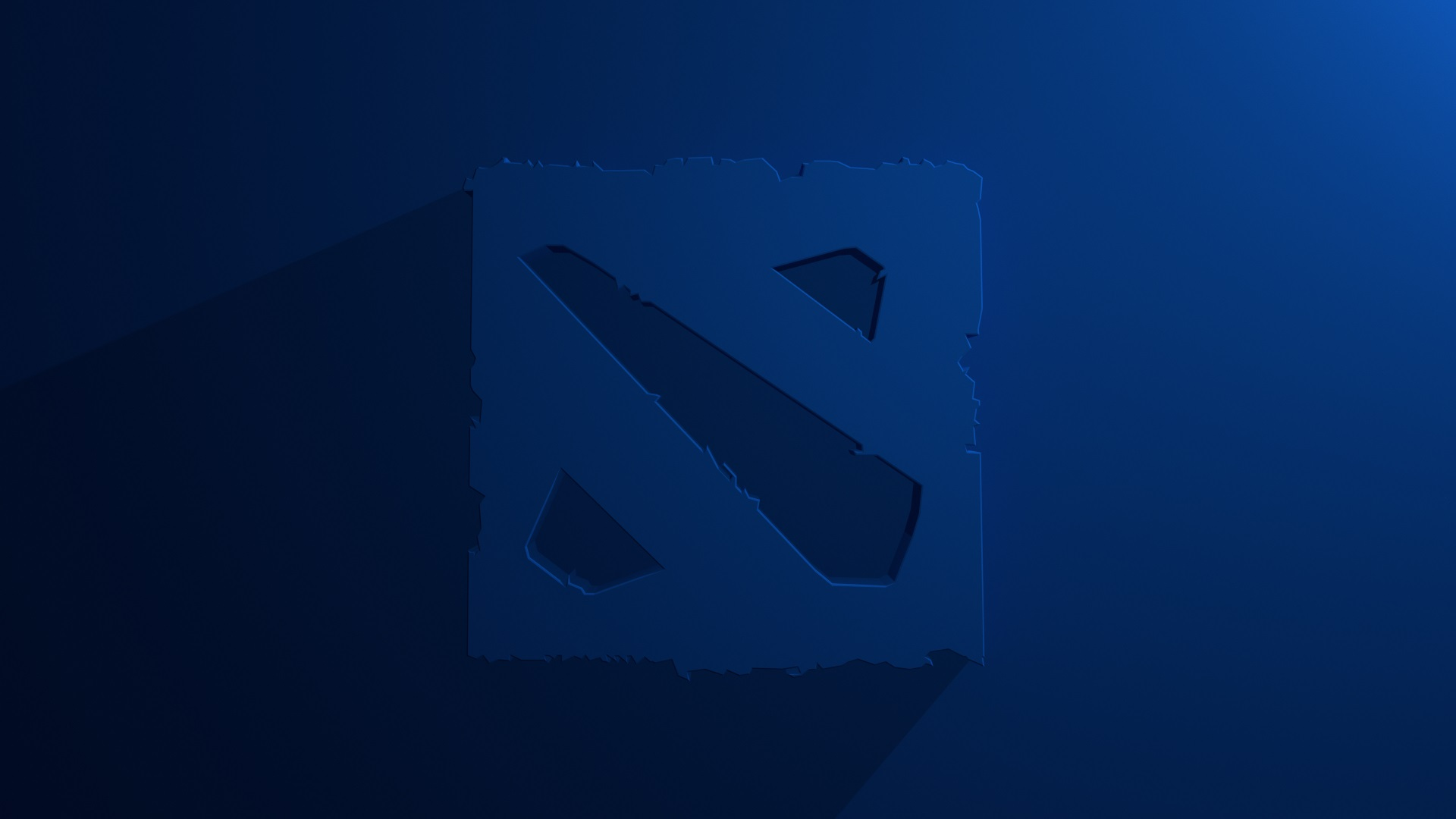 Dota 2 logo blue background, desktop photos