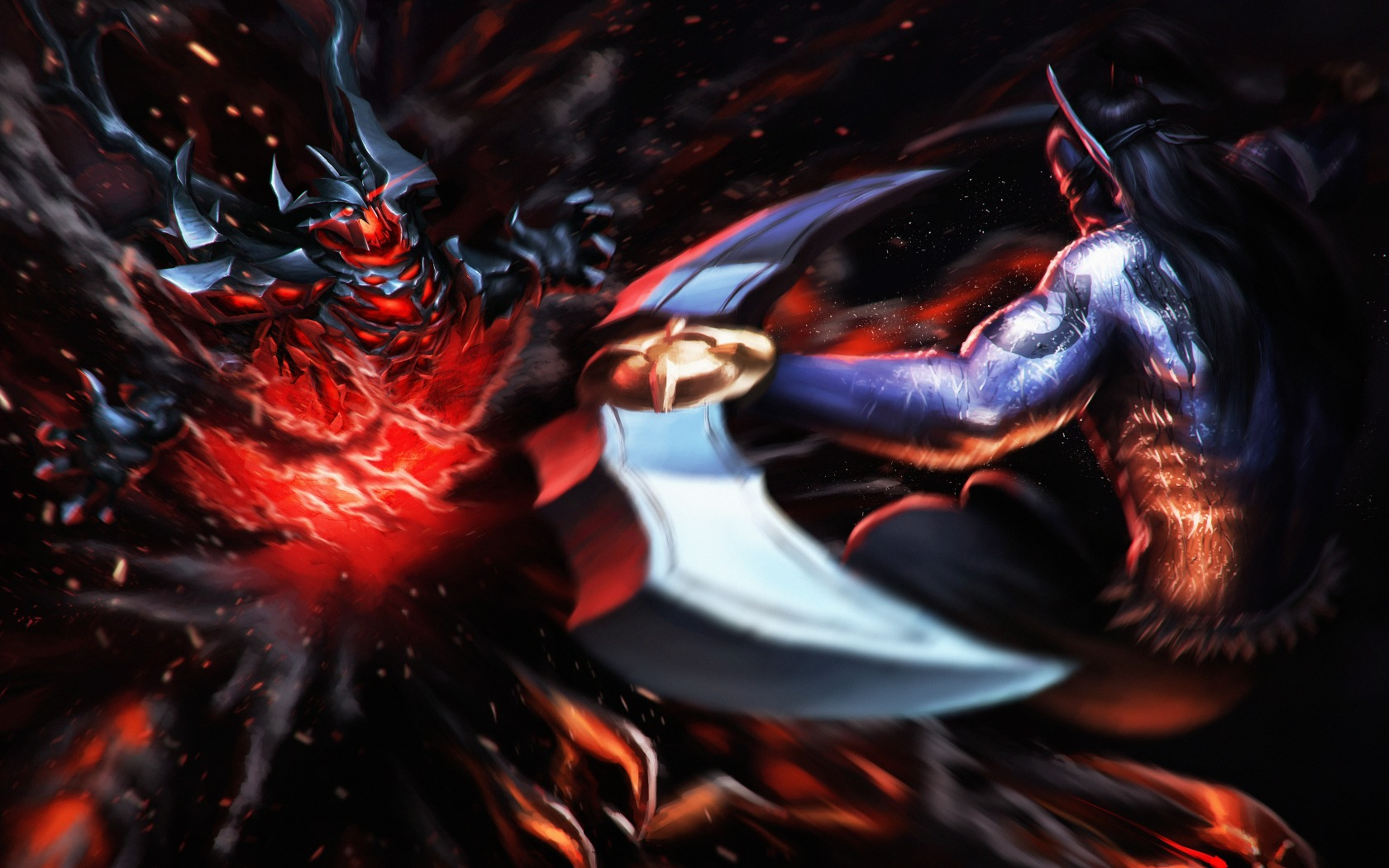 Shadow Fiend & Anti Mage free desktop wallpapers