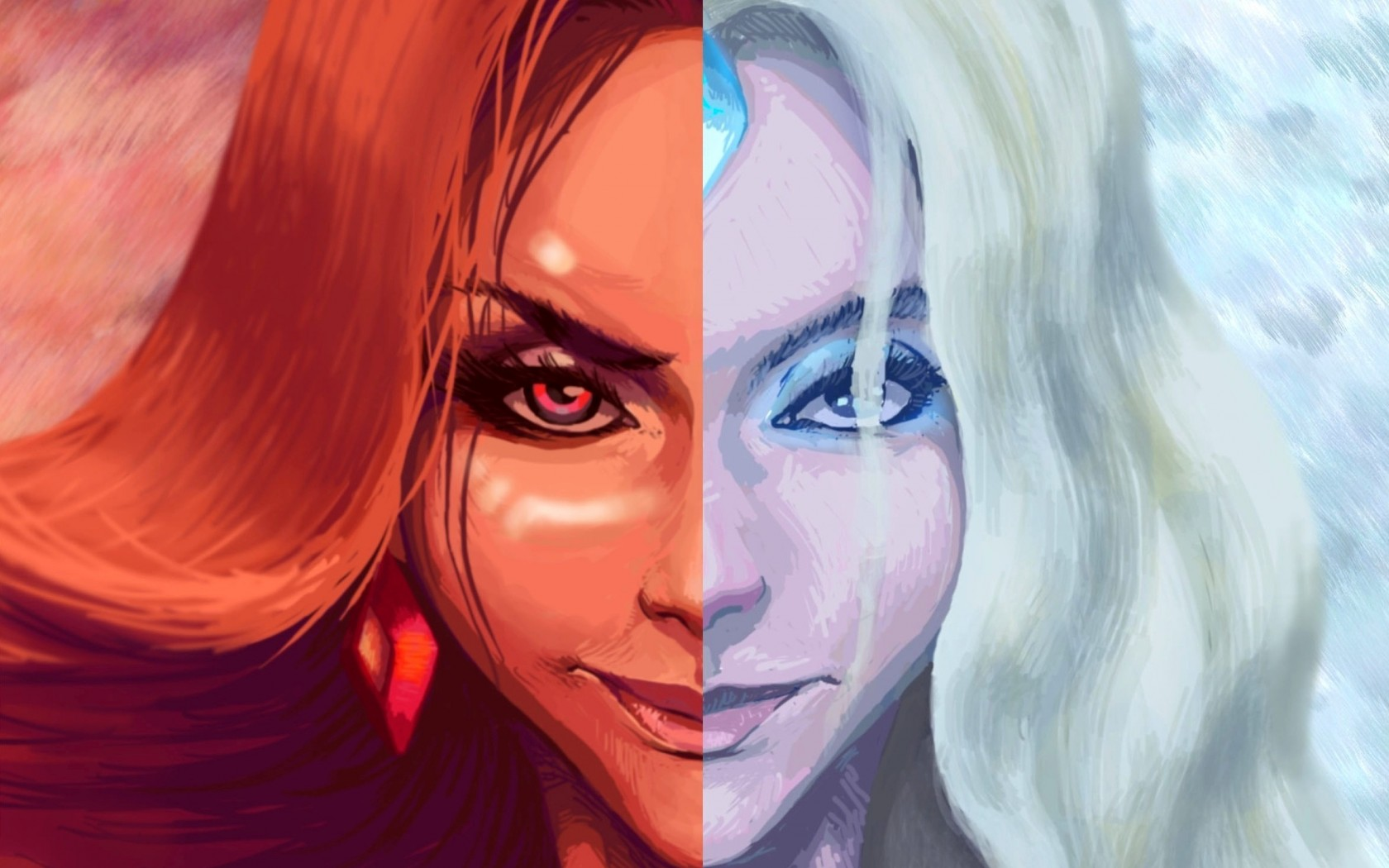 Crystal Maiden & Lina new desktop Dota 2
