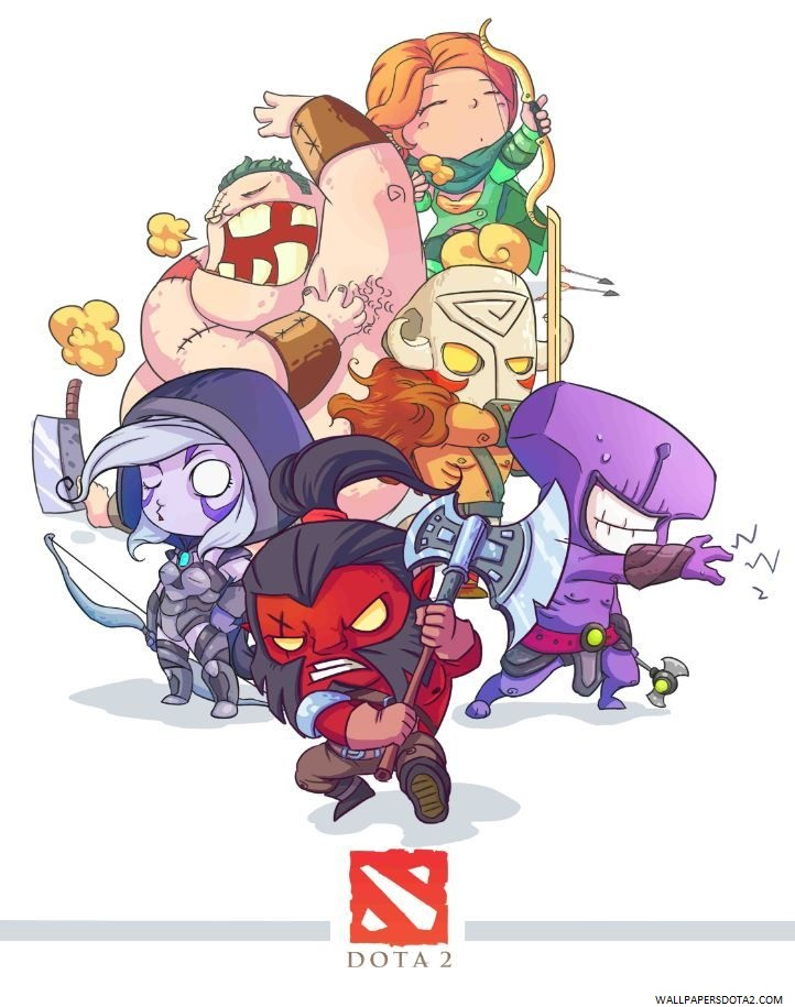 Dota 2 Heroes iphone retina wallpaper