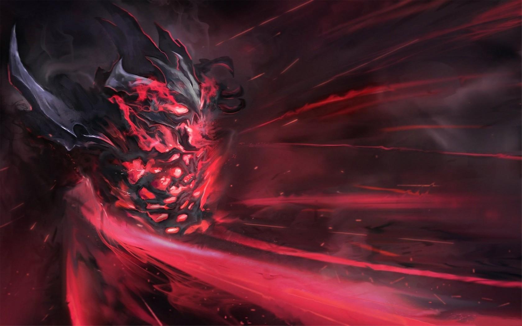 Wallpaper  video games fire Dota 2 Nevermore shadow