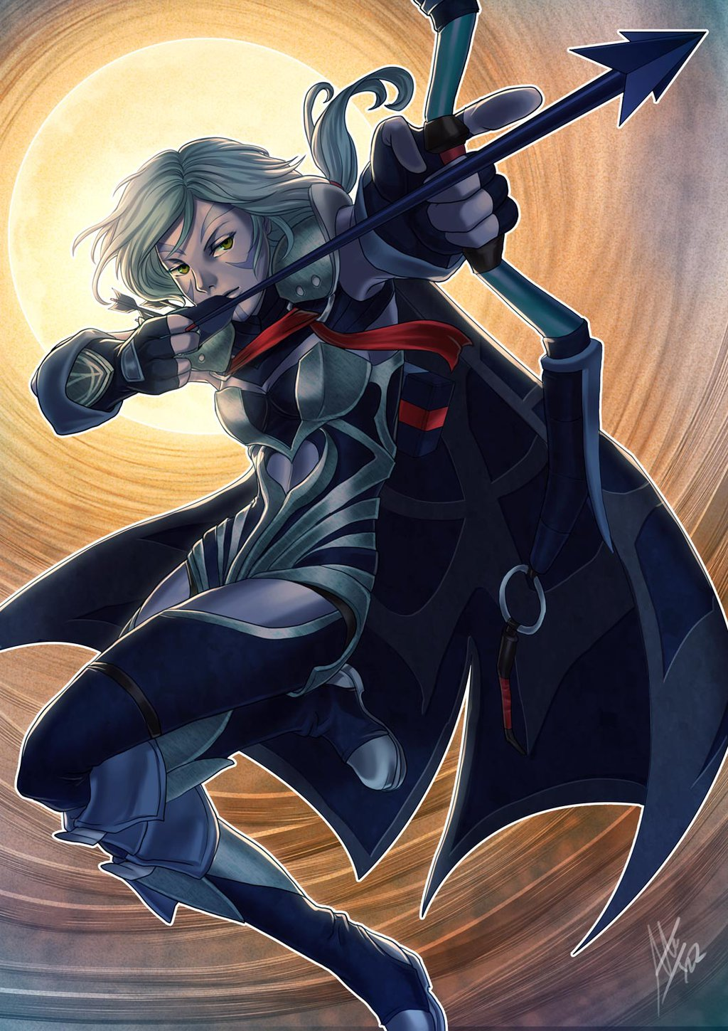 Drow Ranger apple iphone wallpaper