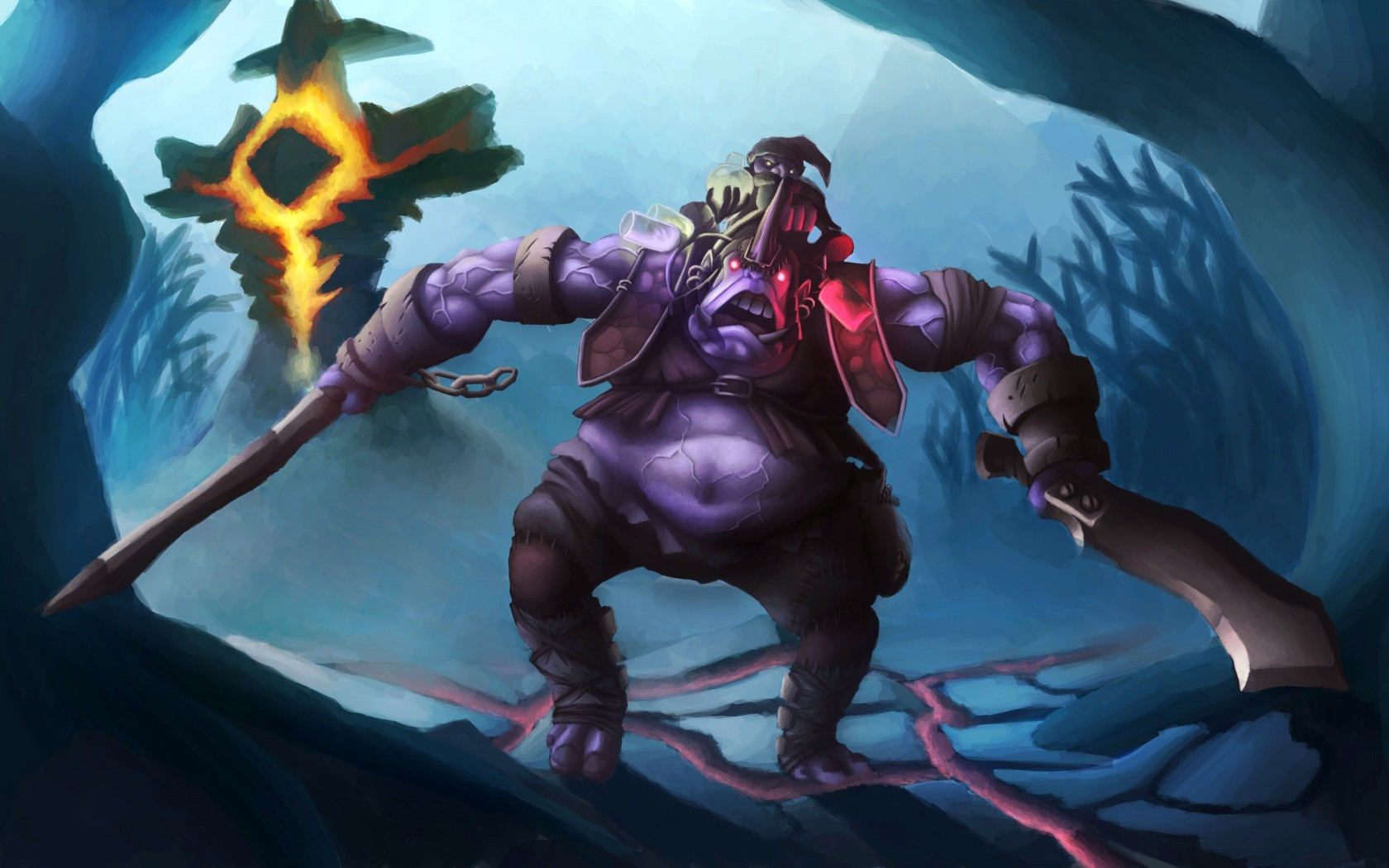 Alchemist god wallpaper Dota 2