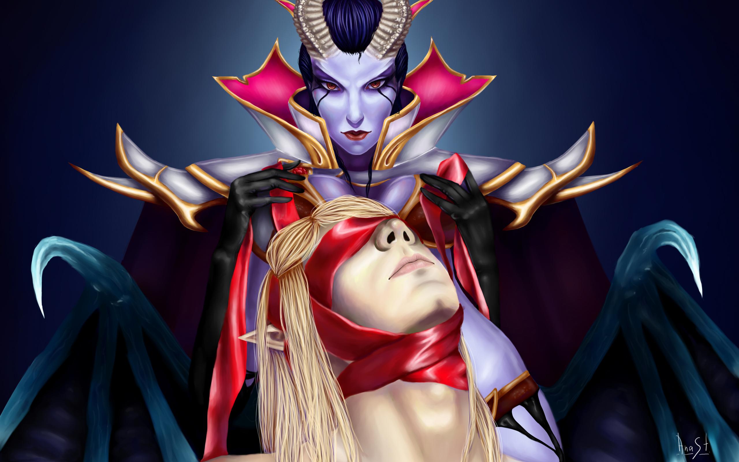 Queen of Pain & Invoker