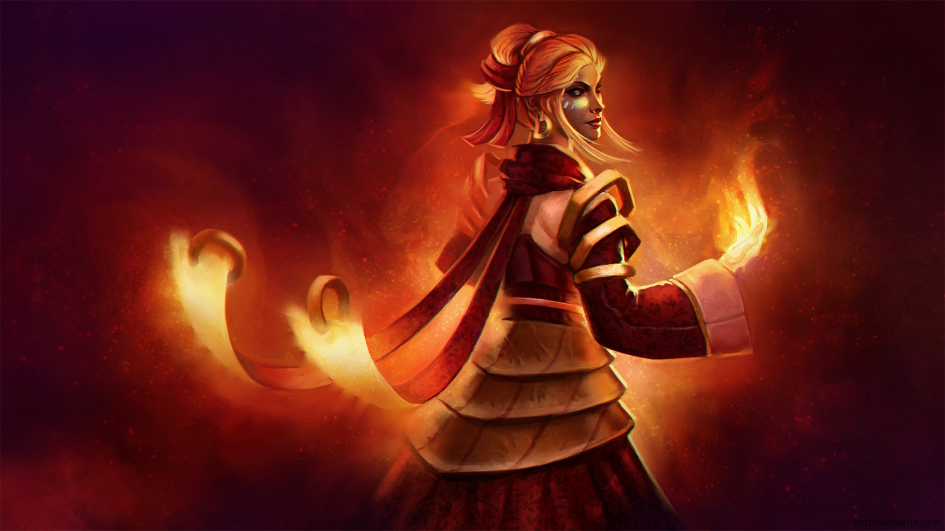 Lina Everlasting Heat обои для стола Dota 2