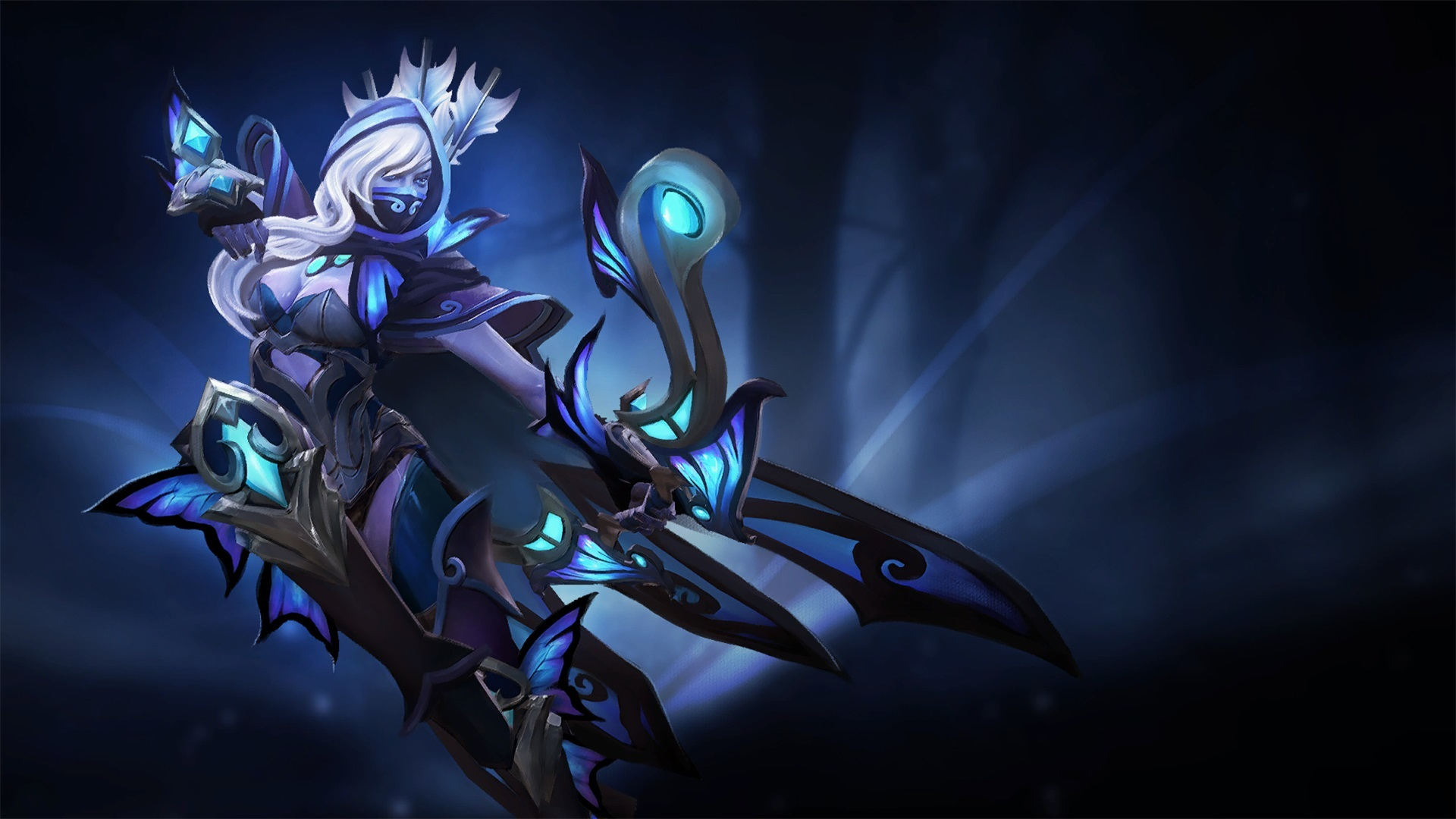 Drow Ranger Guise of the Winged Bolt wallpaper downloads